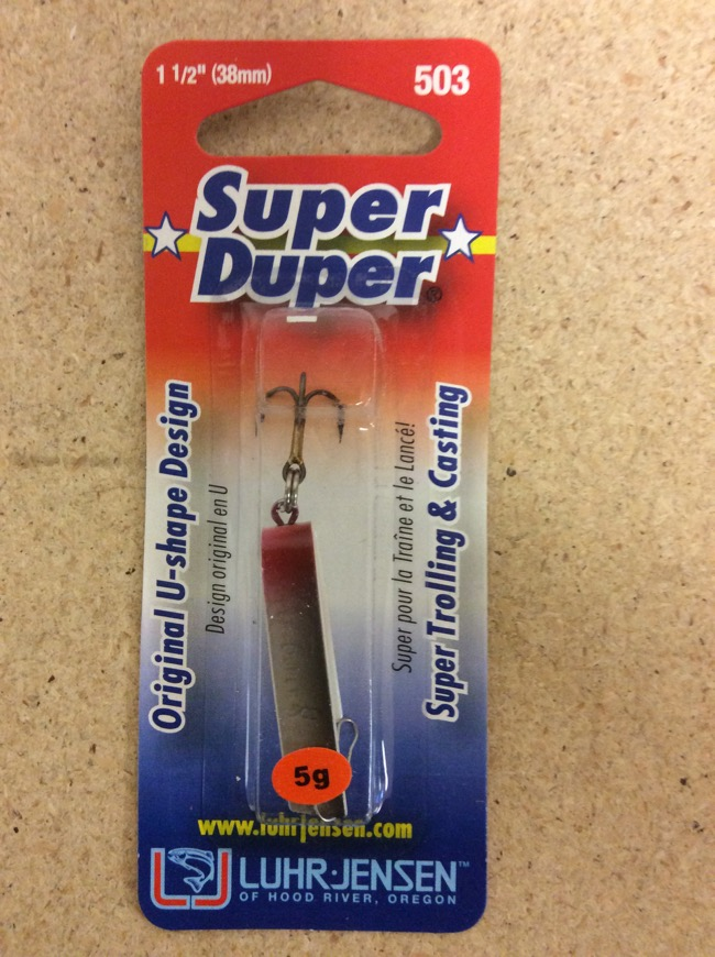 Super duper spinners lures trout fishing supplies for Super duper fishing lure