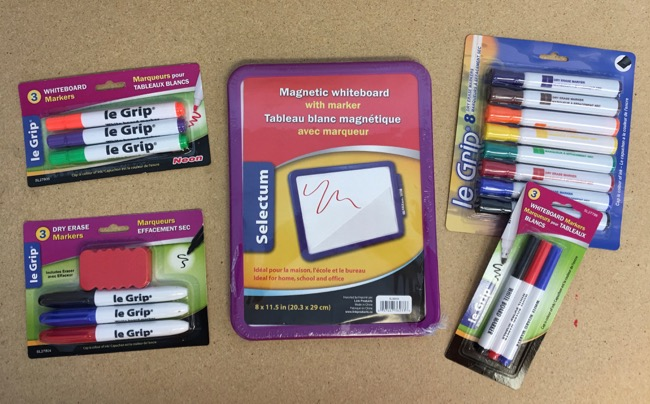 Dry Erase Boards & Markers