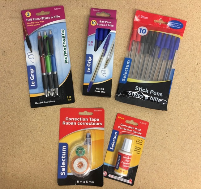 Pens & Correction Products