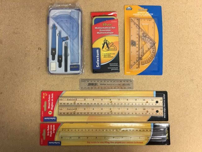 Math Sets & Rulers