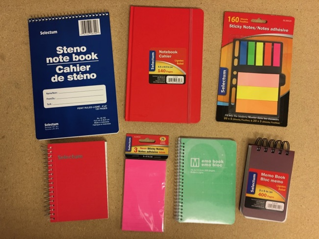 Notepads & Sticky Notes