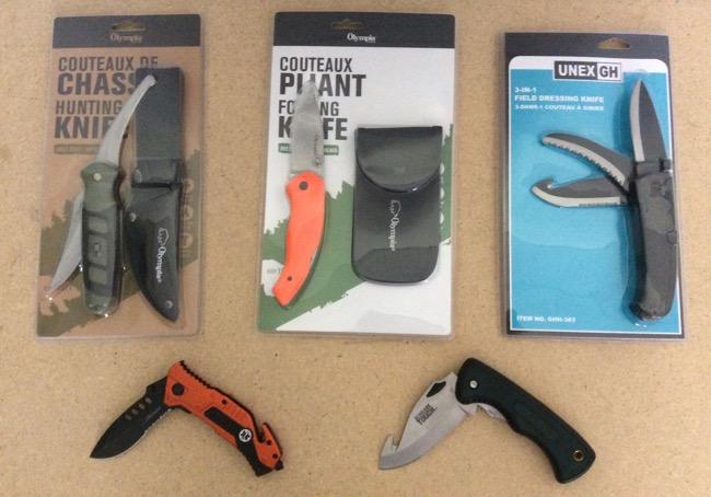 Skinning Knives w/Folding Blades