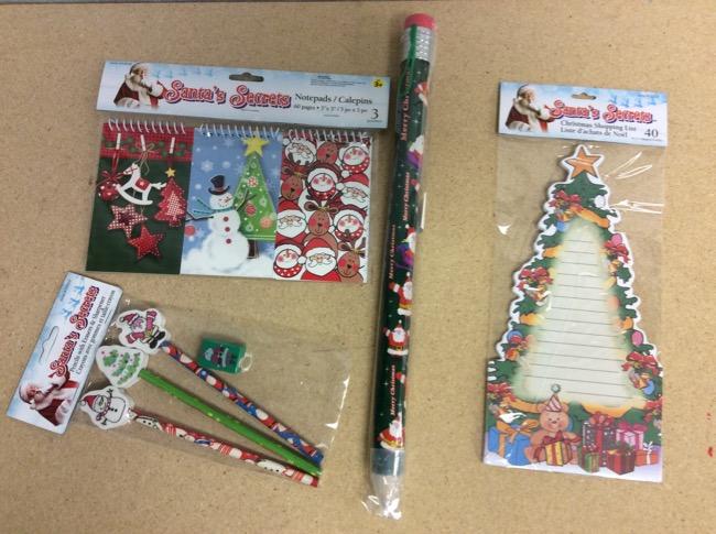 Christmas Pencils & Paper