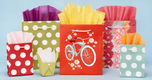 Gift Bags, Wrap & Tissue Paper