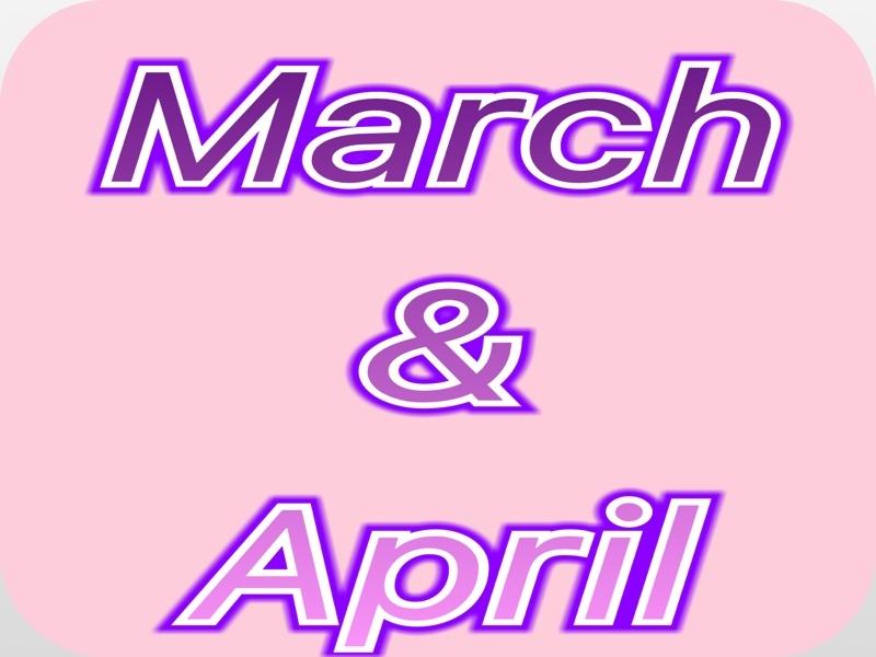 MARCH/APRIL SALE FLYER