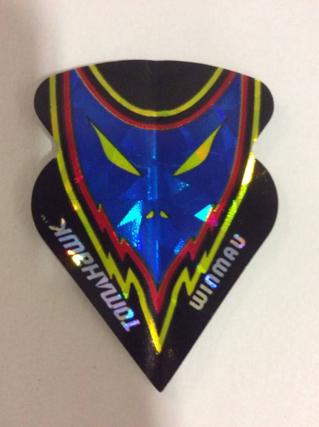 Tomahawk Flights ~ Mask with Yellow Eyes