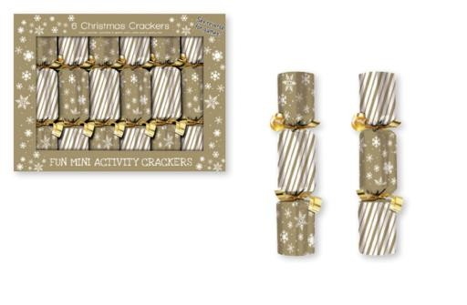 """Christmas Deluxe Crackers - 6"""" ~ 6 per pack"""