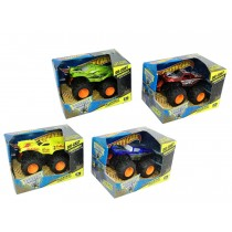 Die-Cast Monster Trucks with Friction Wheels