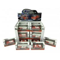 Die-Cast Free Wheel Fire Trucks ~ 4 assorted