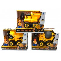 DIY Construction Truck with Screwdriver & Action Figure