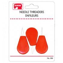 Plastic Needle Threaders ~ 3 per pack