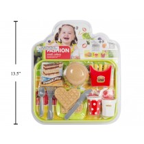 Play Food with Tray & Utensils