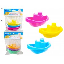 Tootsie Baby Bath Boats ~ 3 pieces