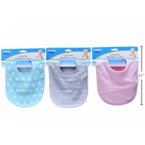 Tootsie Baby Cotton Bib ~ 3 assorted