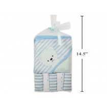 Tootsie Baby Hooded Bath Towel with 5 Washclothes ~ Blue