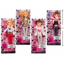 "11.5"" Bendable Fashion Doll"