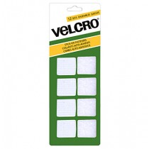 Velcro Stick On Fasteners - Squares ~ White