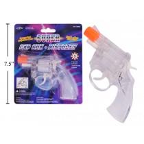 See-Thru Plastic Cap Gun ~ 8 Shot Disc