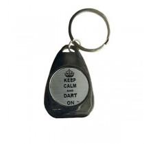 Dart Keychain ~ Keep Calm and Dart On