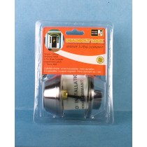 Dead Bolt Lock, Single Cylinder - Pewter