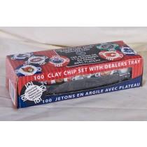 Bicycle Clay Poker Chips w/NHL Teams - 11.5grams ~ 100 per box