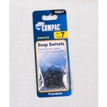 Compac Black Barrel Swivel w/Interlock Snaps