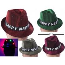 New Year's LED Light-Up Fedora