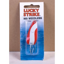 "Lucky Strike Weedless Spoon 2"" ~ Red & White"