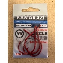 Kamikazi Barbless Circle Hook - Red