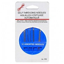 Sewing Self Threading Needles ~ 12 per pack