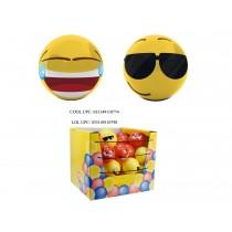 "Emoji Decal 4"" Playball - 2 assorted"