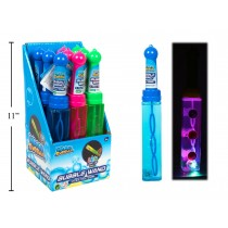 "8"" LED Bubble Wand with Light Up Ball - 6.5oz ~ 9 per display"
