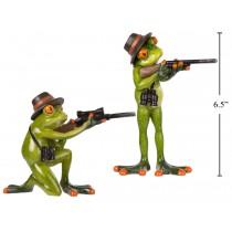 "Polyresin Garden Hunting Frog ~ 6.5""H"