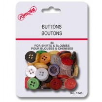 Assorted Colored Buttons ~ 80 per pack