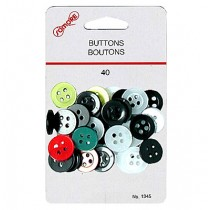 Assorted Colored Buttons ~ 40 per pack