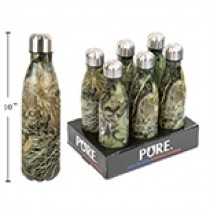 PURE Stainless Steel Water Bottle in Camo Pattern ~ 500ml