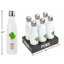"""PURE Stainless Steel Water Bottle """"Don't Be A Prick"""" ~ 500ml"""