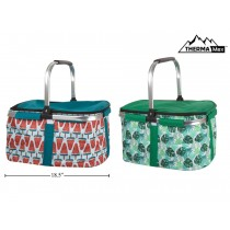 Insulated Picnic Cooler Basket with Handle