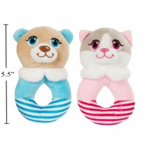 Cuddly Buddy Soft Dog/Cat Baby Rattle - 5.5""