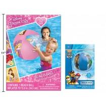"20"" Licensed Beach Ball ~ Princess + Paw Patrol"