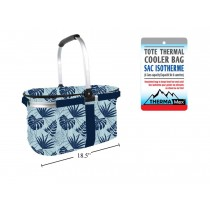 Insulated Foldable Cooler Picnic Basket - Fern Pattern