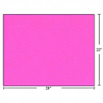 Bristol Board - Box of 50 Sheets ~ Fluorescent Pink