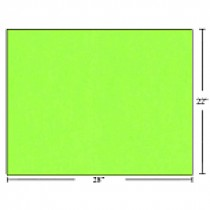 Bristol Board - Box of 50 Sheets ~ Fluorescent Green