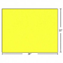 Bristol Board - Box of 50 Sheets ~ Fluorescent Yellow