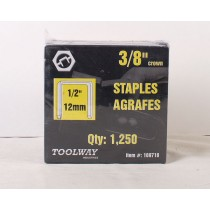 "Toolway T-50 Staples ~ 1/2"" / 12 mm"