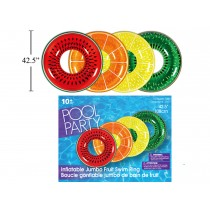 "42.5"" Jumbo Fruit Inflatable Swim Ring"