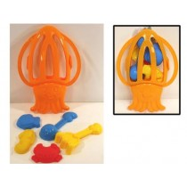 Beach Sand Set in Octopus Shaped Carrying Case ~ 6 piece set