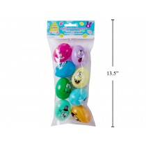 "Easter Fillable Eggs - 2.5"" Face Expressions ~ 8 per pack"