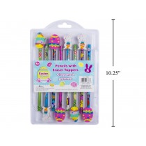 Easter Pencils with Eraser Toppers ~ 8 per pack
