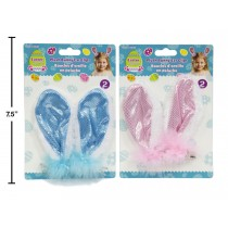 Easter Sequin Bunny Ears Hair Clips ~ 2 per pack